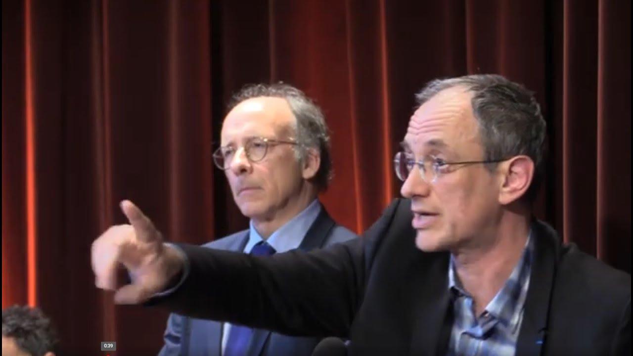 Frédéric Encel et le Général Pinatel